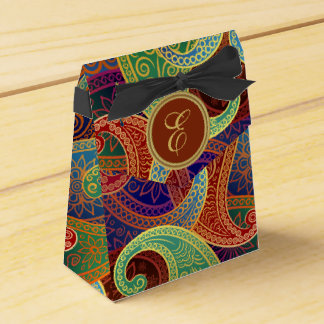 Böhmisches zeitloses Muster Paisleys Geschenkkarton