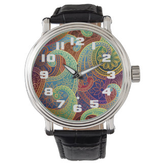 Böhmisches zeitloses Muster Paisleys Uhren