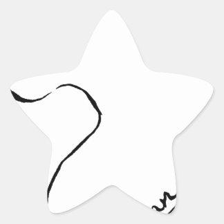 Bohne Stern-Aufkleber