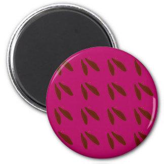 Bohnen auf Rosa Runder Magnet 5,1 Cm
