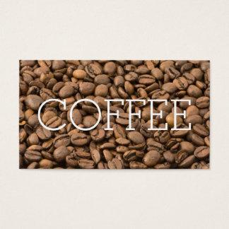 Bohnen-einfache große Wort-Kaffee-Loyalität Visitenkarten