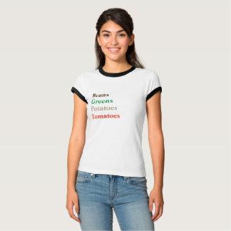 BOHNEN-GRÜNTÖNE-KARTOFFEL-TOMATEN - lustiges T-Shirt