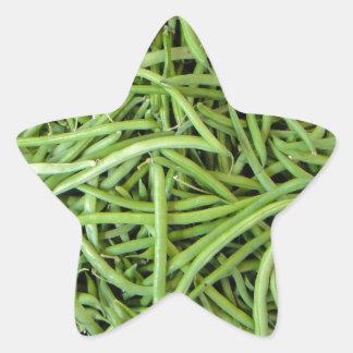 Bohnen Stern-Aufkleber