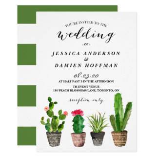 Boho AquarellSucculents, die Einladung IV Wedding