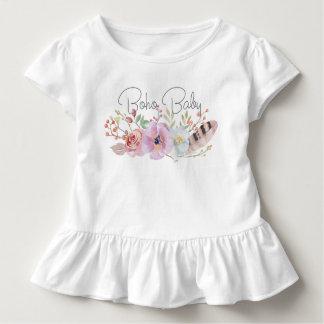 Boho Baby gekräuseltes Kleinkind-T-Stück Kleinkind T-shirt