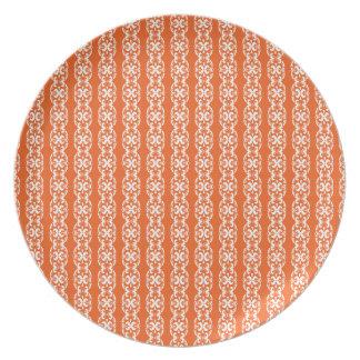 Boho Basar, Mischung u. Match-Orangen-Muster Party Teller