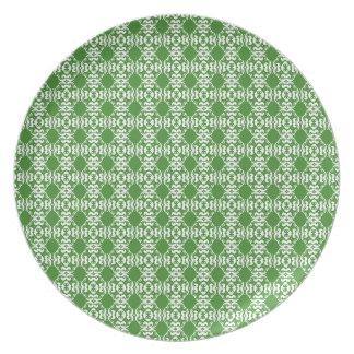 Boho Basar, Mischung u. Match-Smaragd-Muster Flacher Teller