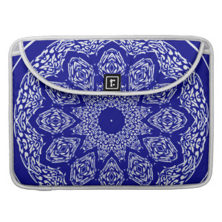 Boho Basar-Mosaik-Kobalt-Muster MacBook Pro Sleeves