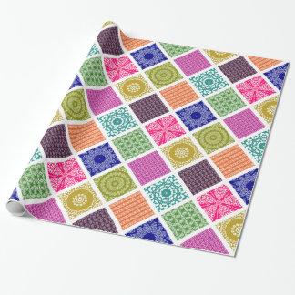 Boho Basar-Patchwork-Mosaik Geschenkpapier