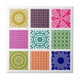 Boho Basar-Patchwork-Mosaik Kleine Quadratische Fliese