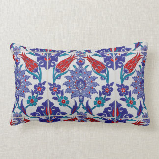 Boho blaues marokkanisches Fliesen-Wurfs-Kissen Lendenkissen