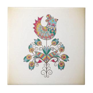 Boho-Chic Küken auf Blume Keramikfliese