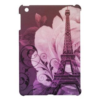 Boho Chic lila Girly mit Blumenturm Paris Eiffel Hülle Für iPad Mini