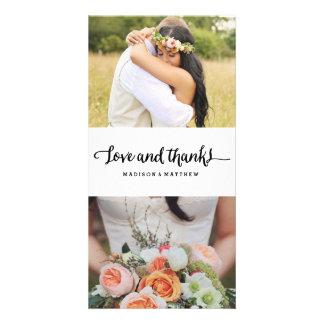 Boho Chic Wedding   danken Ihnen Foto-Karte Fotogrußkarten