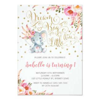 Boho Elefant-Geburtstags-Einladungs-Traum-großes Karte