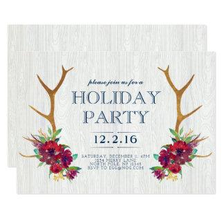 Boho Feiertags-Party Einladung