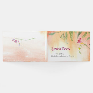 Boho Freesia-Rosa-Pop-HochzeitGuestbook Gästebuch