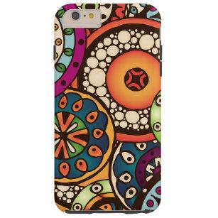 Boho Funky Trendy Retro abstraktes Muster Tough iPhone 6 Plus Hülle