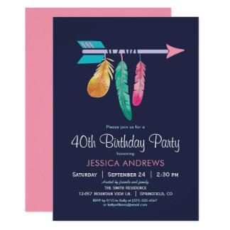 Boho Geburtstags-Party Einladung