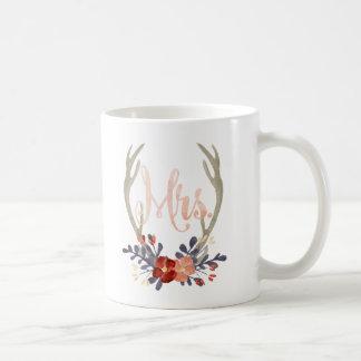 Boho Geweih-Frau Mug Kaffeetasse