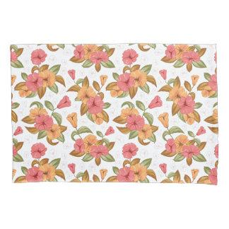 boho korallenrote orange Blumen-Blumenmuster Kissen Bezug