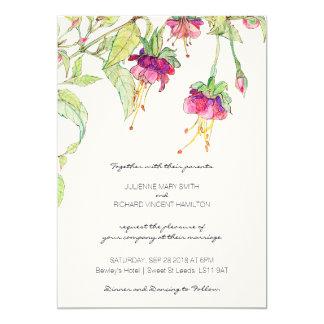 Boho moderne botanische Hochzeits-mit Karte
