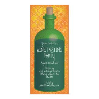 Boho orange Wein-Probieren-Party Karte