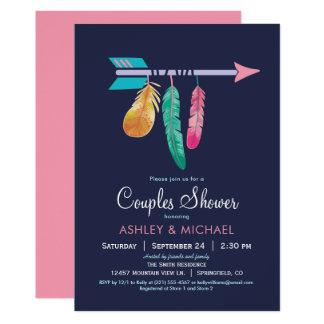 Boho Paar-Duschen-Einladung 12,7 X 17,8 Cm Einladungskarte