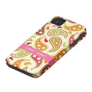 Boho Paisley iPhone 4 Case-Mate kaum There™