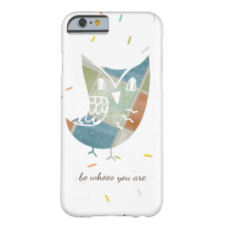 Boho Patchwork-Eule mit Zitat Barely There iPhone 6 Hülle