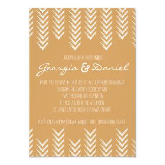 Boho Pfeilspitzen-Hochzeits-Einladung 12,7 X 17,8 Cm Einladungskarte