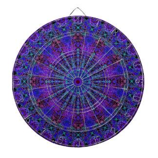 Boho-Romantische blau-farbige Mandalaverzierung Dartscheibe