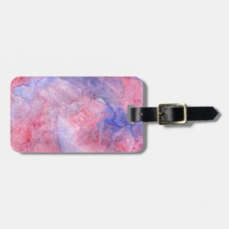 Boho rosa und lila Watercolor Kofferanhänger