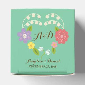 Boho rustikale BlumenKranz-Hochzeit (Minze) Geschenkkartons