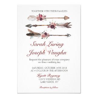 Boho schicke Hochzeits-Einladung Karte