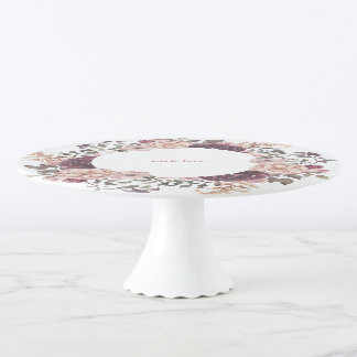 Boho schicke Hochzeitstorte-Platte Tortenplatte
