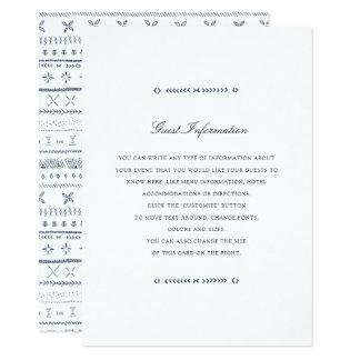 Boho schicker Hochzeits-Einsatz Karte