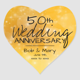 Boho schickes Gold und Hochzeitstag des Herz-Aufkleber