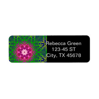 Boho schickes Kaleidoskop Yoga Fuschia grüne