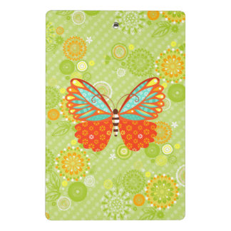 Boho Schmetterling auf Blumen - Miniklemmbrett Mini Klemmbrett