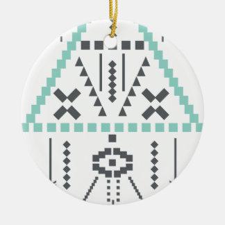 Boho Totem, ethnisches Symbol, Hippie, Azteke, Keramik Ornament