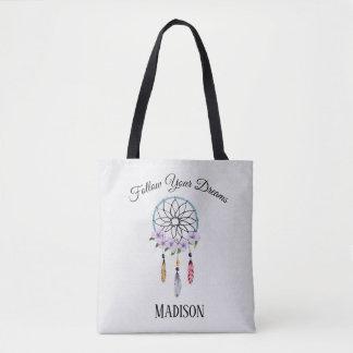 Boho Traumfänger-BlumenBlumen-personalisierter Tasche