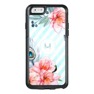 Boho versieht den Blumen Aquarell-Streifen mit OtterBox iPhone 6/6s Hülle