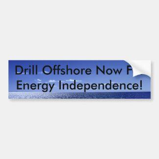 Bohren Sie Offshore jetzt für Energie in… Autoaufkleber