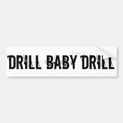 Bohrgerät-Baby-Bohrgerät, weiß Auto Sticker