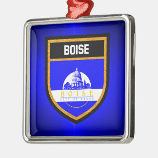 Boise-Flagge Silbernes Ornament