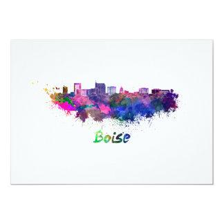Boise skyline im Watercolor Karte