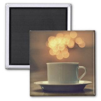 Bokeh beleuchtet Tee-Magneten Quadratischer Magnet