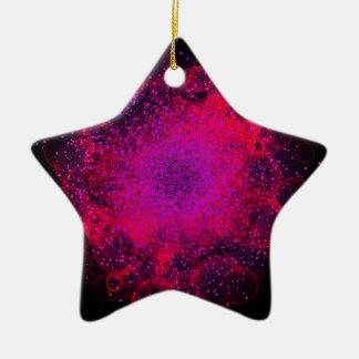Bokeh Explosion. Сolorful abstrakter Hintergrund Keramik Stern-Ornament