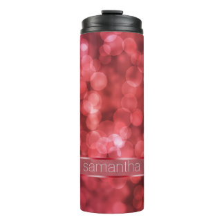 Bokeh mit Band rotes BPSX Thermosbecher